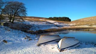 Upturned boats on the Pentland Hills