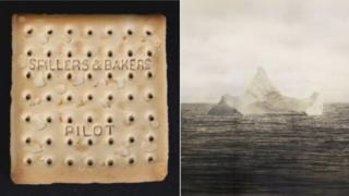 Titanic biscuit and iceberg picture