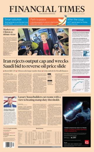 Financial Times front page (28/09/16)