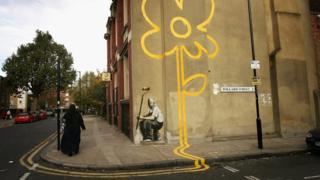 Street artwork by Banksy