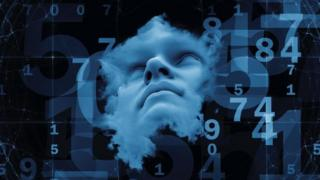 Human face among digits