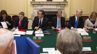 Cabinet meeting, 2015, with Sir Jeremy Heywood on David Cameron's right