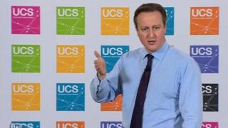 David Cameron at University Campus Suffolk