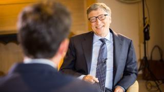 Bill Gates was interviewed by the BBC's Justin Rowlatt