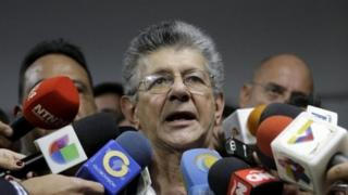 Henry Ramos Allup during a news conference in Caracas on 3 January, 2016.