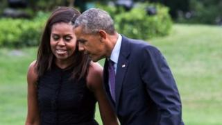 Michelle and Barack Obama. File photo