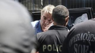 Picture showing Eike Batista arriving at the Ary Franco prison in Rio de Janeiro, on 30 January, 2017.