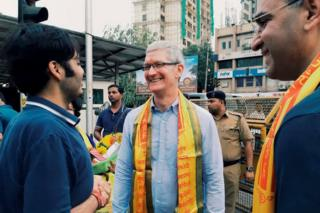 Apple CEO Tim Cook in India