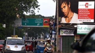 Poster showing Enrique Iglesias in Colombo on 27 December 2015