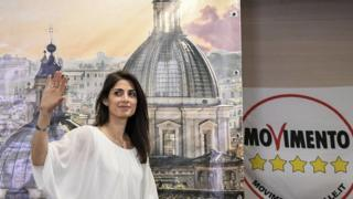 Virginia Raggi, from the Five Star Movement on 19 June