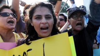 Protest against so-called honour killings, Islamabad, 2008