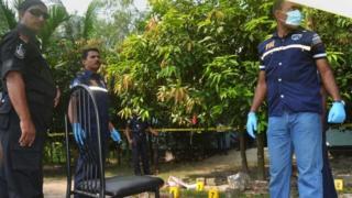 Bangladeshi police officials, Rangpur, 3 Oct