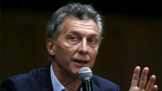 Argentina's president-elect Mauricio Macri gives a news conference in Buenos Aires on 23 November, 2015