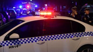 A police car in Sydney
