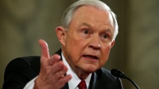 Attorney General nominee Senator Jeff Sessions testifies before the Senate Judiciary Committee