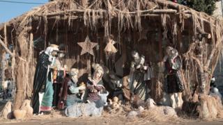 Manger scene in Bethlehem