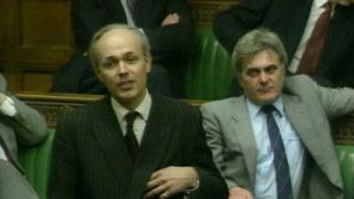 Iain Duncan Smith speaking in the House of Commons in the early 1990s