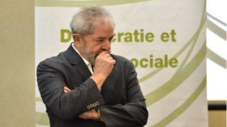 "Brazilian former president Luiz Inacio Lula da Silva takes part in the seminar ""Democracy and Social Justice"", in Sao Paulo, Brazil on 25 April, 2016."