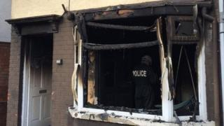 Police say the empty property in Glencairn Crescent was deliberately set alight