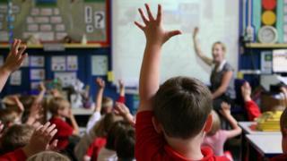 A classroom of children