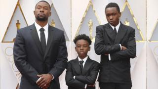 Trevante Rhodes, Alex R Hibbert and Ashton Sanders