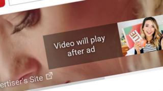 YouTube advertisement