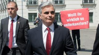 Shock as Austrian chancellor quits