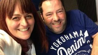 Selfie of Helen Crowther and Andy Clewes