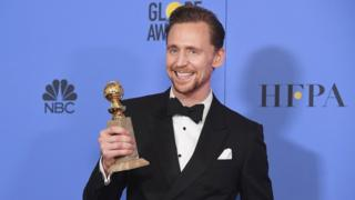 Tom Hiddleston at the Golden Globes