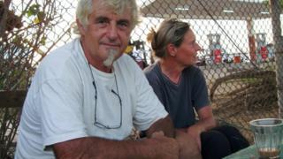 Jurgen Kantner and Sabine Merz pictured in Berbera, Somaliland, in 2009