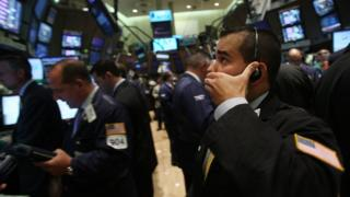 New York Stock Exchange traders in September 2008