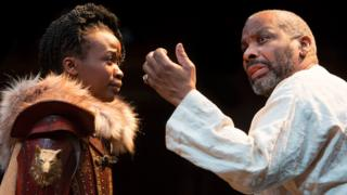 Pepter Lunkuse as Cordelia and Don Warrington as King Lear