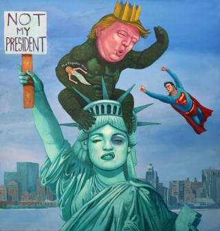 Michael Forbes' painting Not My President