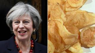 Theresa May and some crisps