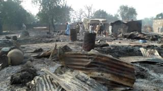 Scene following attack by Boko Haram in Dalori village, Nigeria. 31 Jan 2016