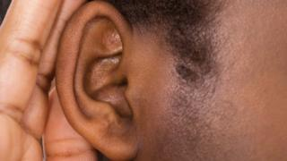 Close up of an ear