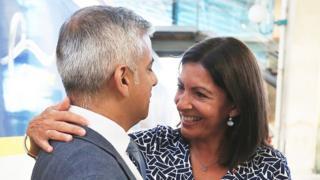 Sadiq Khan and Anne Hildalgo