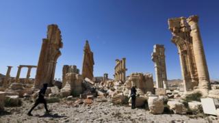 Palmyra's ancient ruins