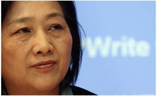 In this file picture taken on 5 February 2007, Chinese journalist Gao Yu addresses a press conference in Hong Kong.