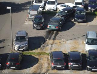 Cars partially destroyed in parking lot by 75-year-old driver in German city of Dueren