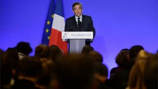 French presidential election candidate for the right-wing Les Republicains (LR) party Francois Fillon speaks during a press conference on 1 March 2017 in Paris.