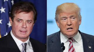 Paul Manafort (L) resigned as campaign chairman for Republican presidential nominee Donald Trump (R).