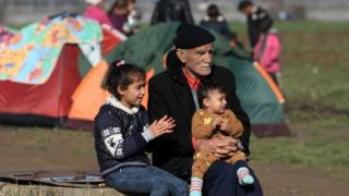 Migrants at Idomeni camp, 4 Mar 16
