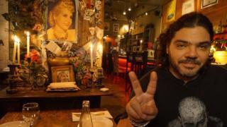 Daniel Narezo in the Peron, Peron bar, Buenos Aires