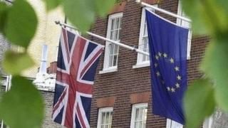 The Union and the EU flags