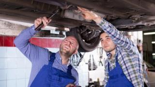 garage workers
