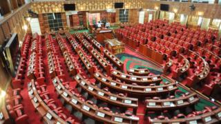 An inside view of Kenya's Parliament