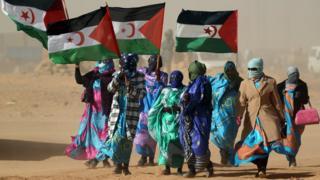 Western Sahara refugees (file photo)