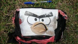 'Angry bird' bag found on Riake beach, Madagascar