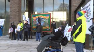 Demo at Norfolk County Council